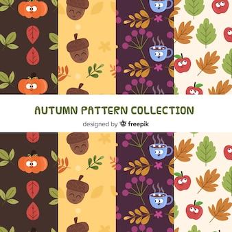 Adorável coleção outono padrão