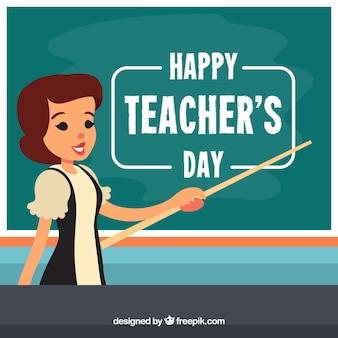 Adorável composição do dia dos professores com design plano