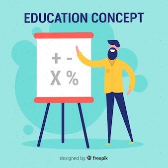 Adorável conceito de educação com design plano