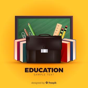 Adorável conceito de educação com design realista