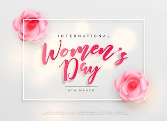 Adorável feliz das mulheres dia internacional celebração fundo