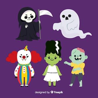 Adorável personagem de halloween collectio