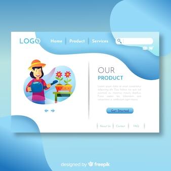 Adorável web design conceito com design plano