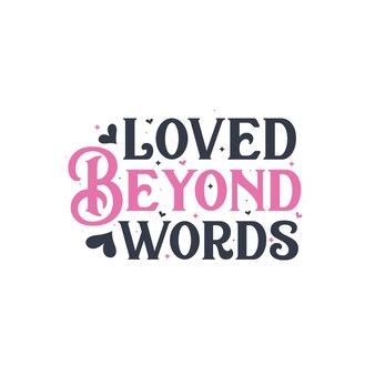 Adorei além das palavras - design de presente para o dia dos namorados