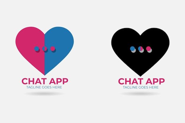 Adoro chat modelo de design de logotipo vetor premium