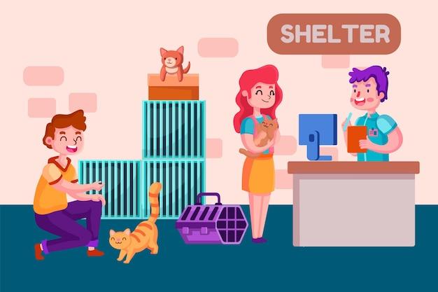 Adote um animal de estimação de clientes do abrigo