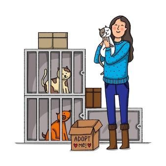 Adote um conceito de animal de estimação