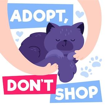 Adote um gato do abrigo