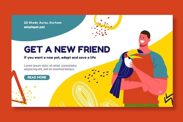 Adote um modelo de banner para animais de estimação