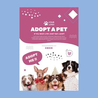 Adote um modelo de folheto para animais de estimação