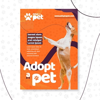 Adote um modelo de panfleto para animais de estimação