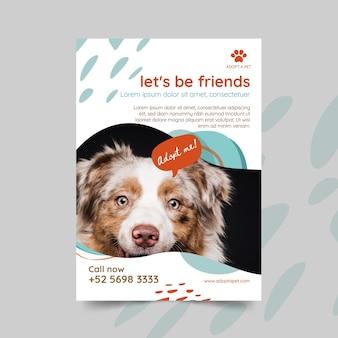 Adote um panfleto de animal de estimação