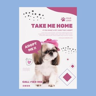Adote um panfleto de modelo de animal de estimação