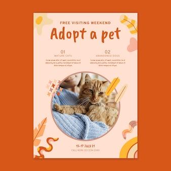 Adote um pôster de animal de estimação com foto