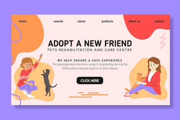 Adote uma página de destino para animais de estimação