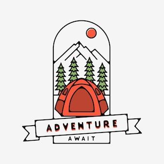 Adventure aguarda monoline design