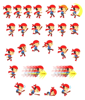Adventure boy game sprites