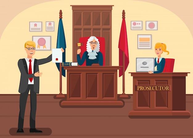 Advogado fornecendo provas
