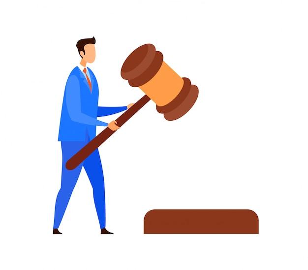 Advogado, juiz, personagem de vetor de assessor jurídico