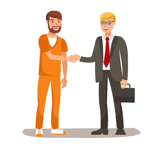 Advogado meeting client flat