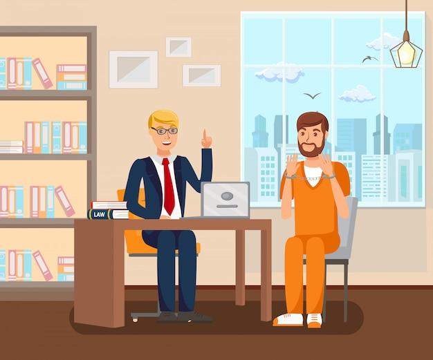 Advogado trabalha no escritório