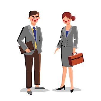 Advogados trabalhadores de negócios, homem e mulher