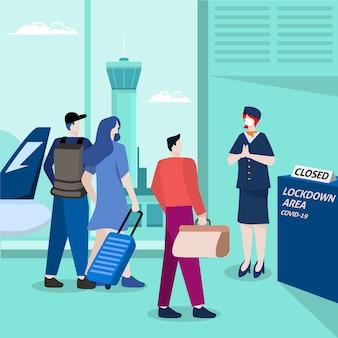 Aeroporto fechado devido a pandemia
