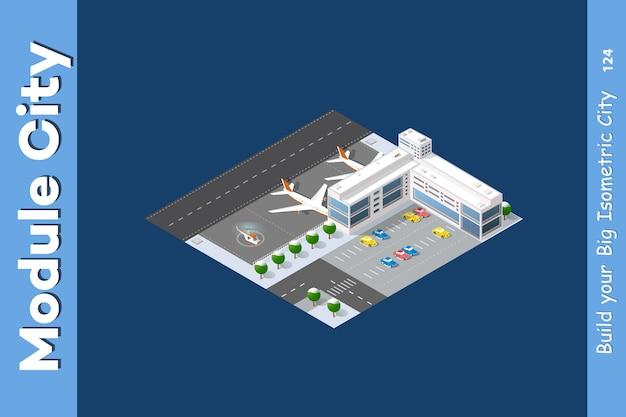 Aeroporto isométrico de inverno