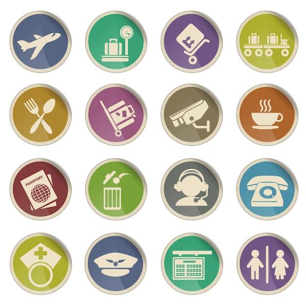 Aeroporto simplesmente símbolo para ícones da web
