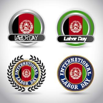 Afeganistão bandeira dia do trabalho dia vector design