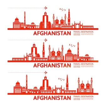 Afeganistão viajar destino grande ilustração.