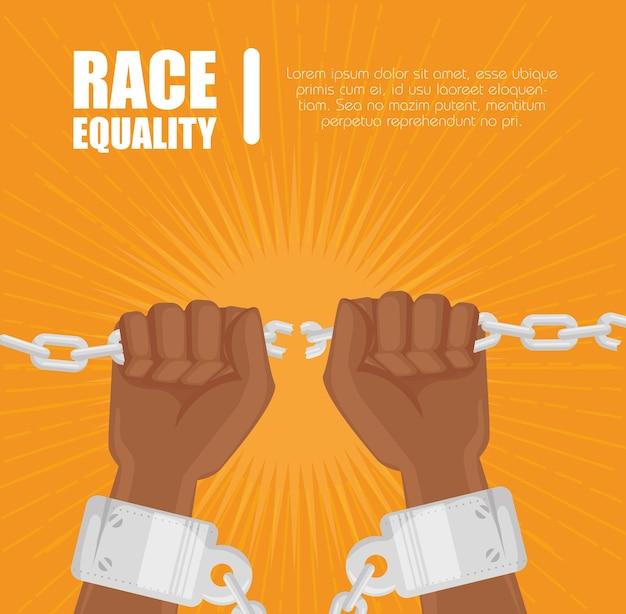 Afro americano pessoas mãos segurando uma corrente