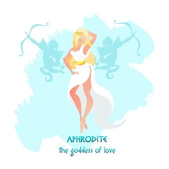 Afrodite ou deusa vênus do amor e da beleza