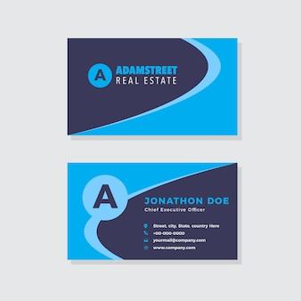 Agência criativa business card design