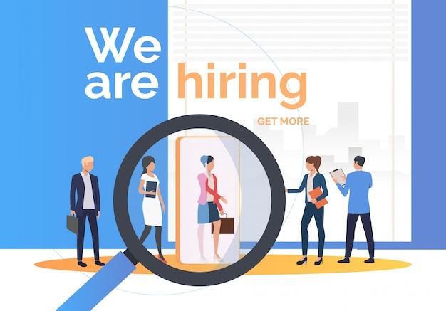 Agência de emprego em busca de candidatos a emprego
