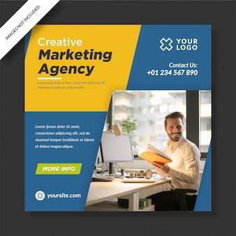 Agência de marketing criativo corporativo para postagem em mídia social