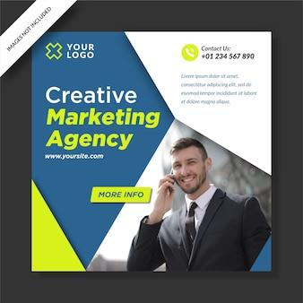 Agência de marketing criativo instagram post banner design de mídia social