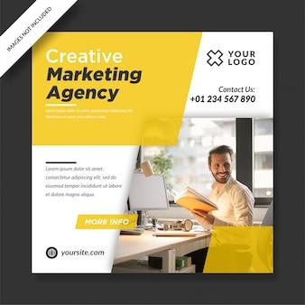 Agência de marketing criativo para square social media post