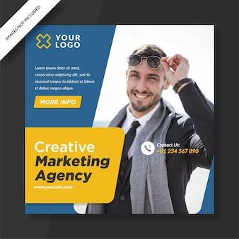 Agência de marketing criativo para startups para postagem nas mídias sociais da square