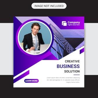 Agência de marketing de negócios criativos mídia social insta post design