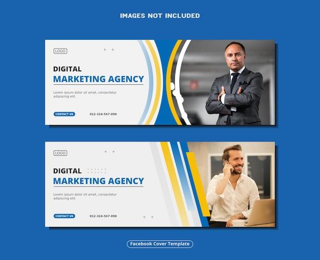 Agência de marketing digital banner de capa do facebook modelo de postagem de mídia social