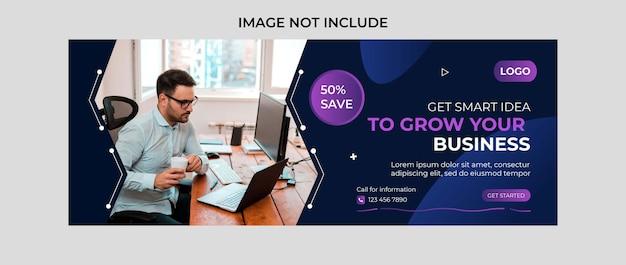 Agência de marketing digital e capa corporativa do facebook