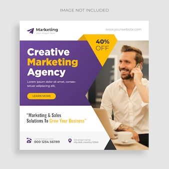 Agência de marketing digital e folheto corporativo grátis