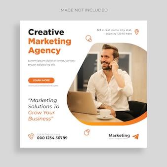 Agência de marketing digital e modelo de postagem de mídia social corporativa vector grátis
