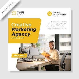 Agência de marketing digital moderna instagram post banner design de mídia social