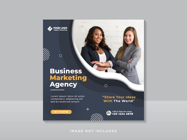 Agência de marketing digital para empresas de mídia social pós-banner da web