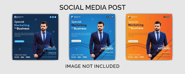 Agência de marketing digital pós-design de modelo de vetor premium de mídia social