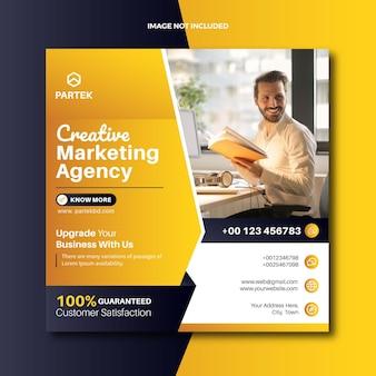 Agência de marketing digital postar banner na web para mídia social