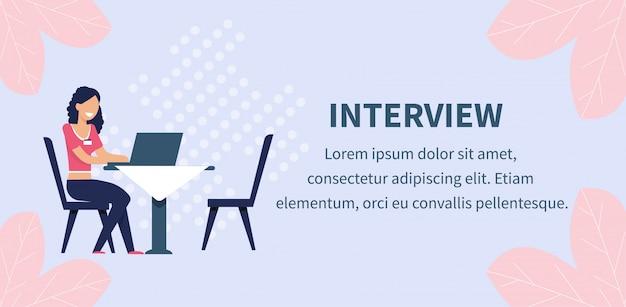 Agência de namoro employee interviewing client banner