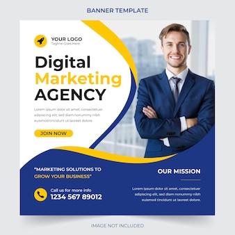 Agência de negócios digital profissional que faz marketing de postagem em mídia social e design de modelo de banner